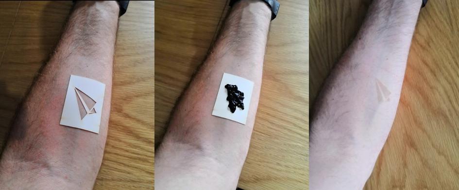 Application de l'encre 100% naturel pour un tatouage temporaire réussi